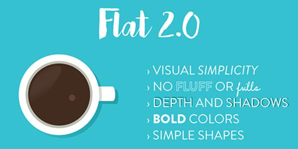 Flat design 2.0 con textos