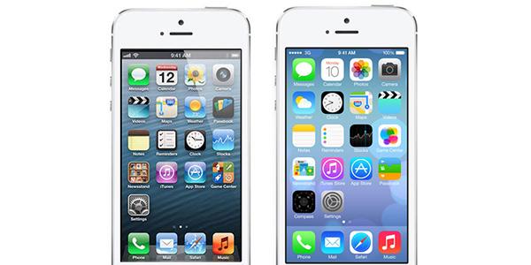 Pantalla de 2 iPhones