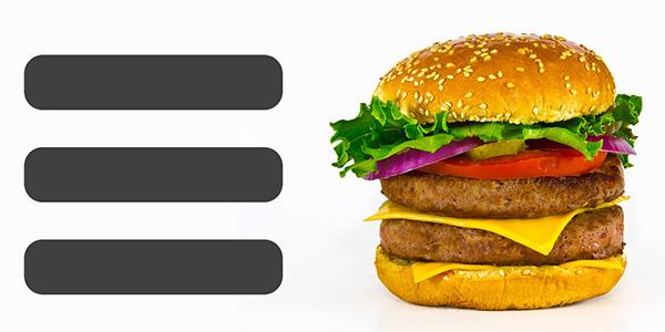 icono hamburguesa con foto de hamburguesa