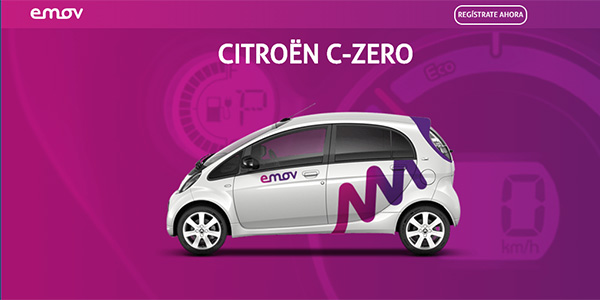 EMOV coche Citroën con colores Pantone Of the Year 2018